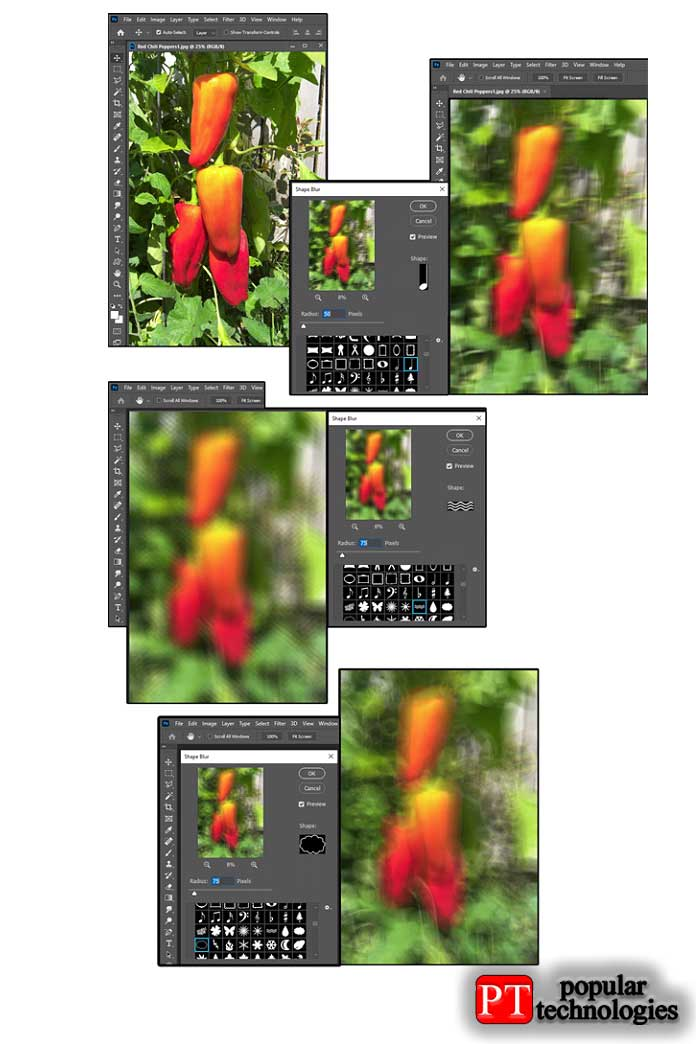 Photoshop Shape Blur