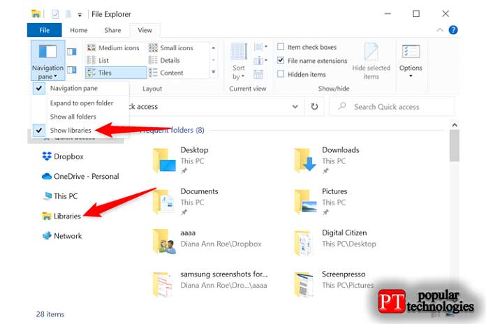 библиотеки Windows 10 5