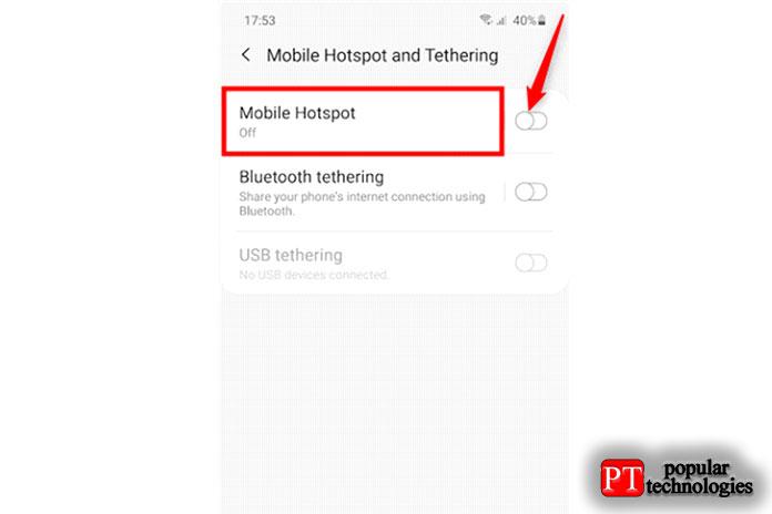 Как раздать интернет с Android14