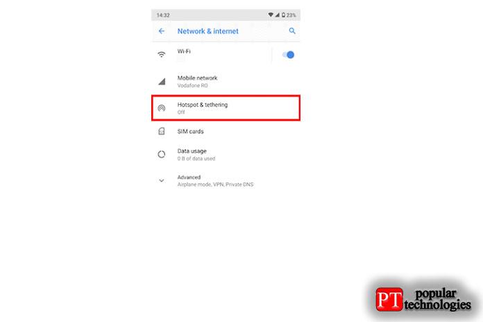 Как раздать интернет с Android6