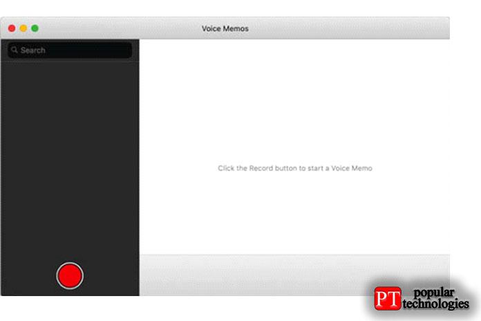 Приложение голосовых заметок в macOS Mojave