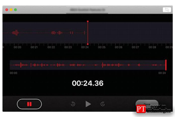 Приложение голосовых заметок в macOS Mojave2