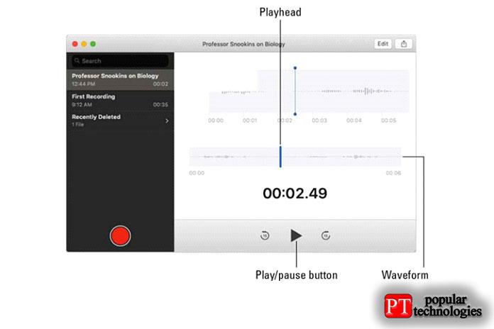 Приложение голосовых заметок в macOS Mojave3