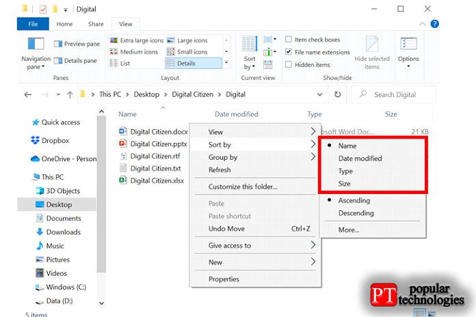 Сортировка файлов в папке1