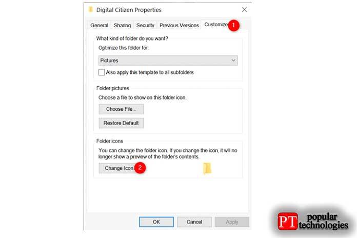 значок папки в Windows8