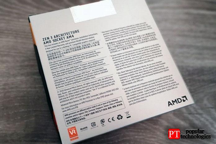 AMD Ryzen 5 5600X задняя часть коробки