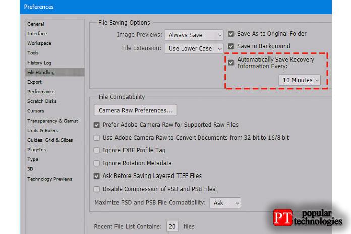 Как восстановить несохраненные файлы Photoshop (PSD)