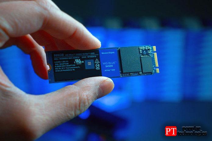 Производительность твердотельного накопителя Western Digital Blue SN550 NVMe