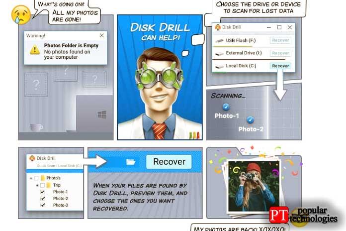 утерянные данные спомощью Disk Drill