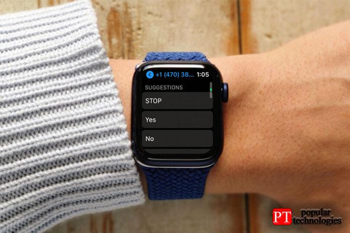 Как изменить быстрые ответы Apple Watch на сообщение