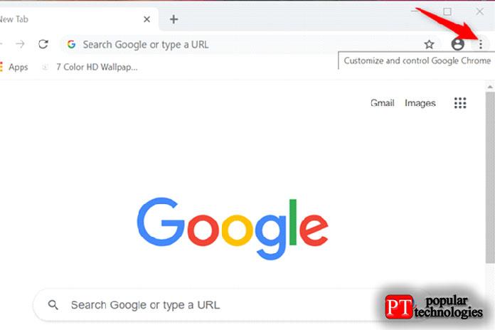 Нажмите на настройки и управление Google Chrome