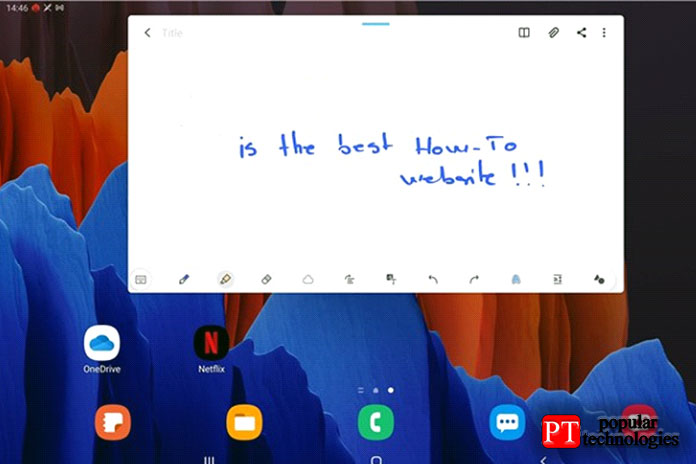 Рукописный ввод наSamsung Galaxy Tab S7+с помощью SPen