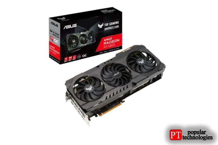 ASUS TUF GAMING Radeon RX6800OC 16ГБ