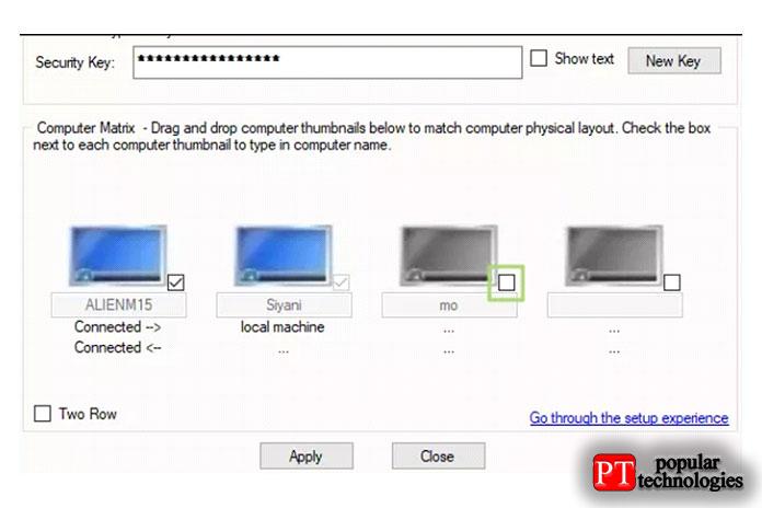 На компьютере с окном «Настройка машины» установите третий флажок