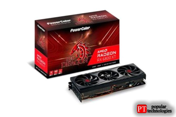 PowerColor Radeon RX6800XT Красный Дракон 16ГБ