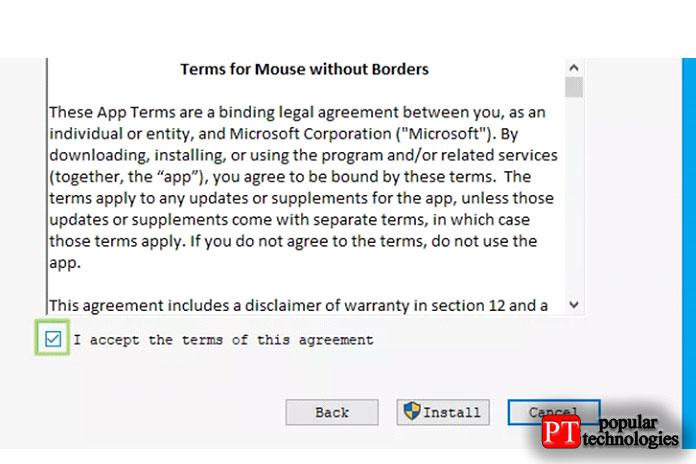 Прочтите Условия лицензии Microsoft