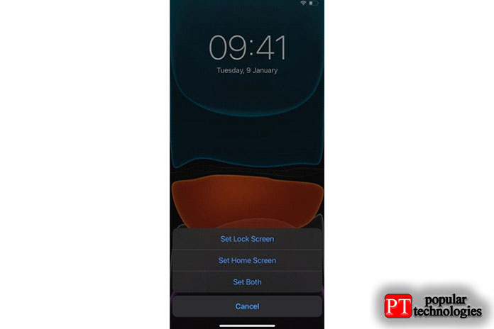 Решите, хотите ли вы использовать обои для экрана блокировки iPhone, домашний экран или и то, и другое