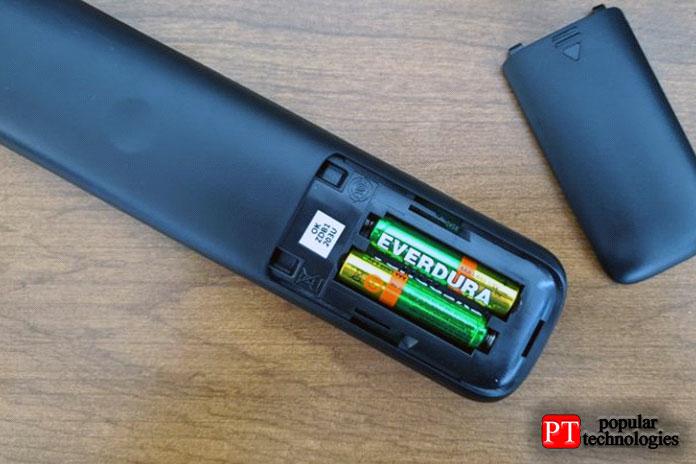 Замените батарейки впульте дистанционного управления