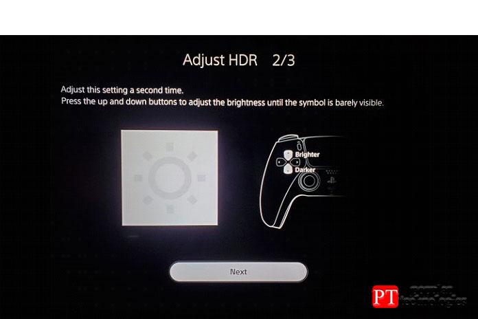 Запустите калибровку HDR наPS5