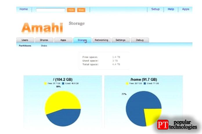 Домашний сервер Amahi