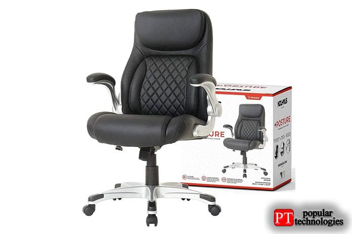 Эргономичное офисное кресло изискусственной кожи NOUHAUS + Posture