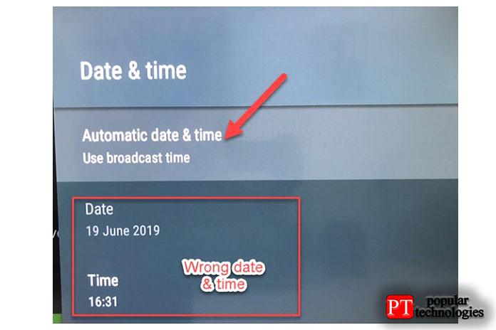 Коснитесь параметра «Автоматические данные ивремя»