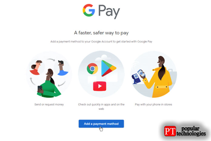 Настройте Google Pay изИнтернета