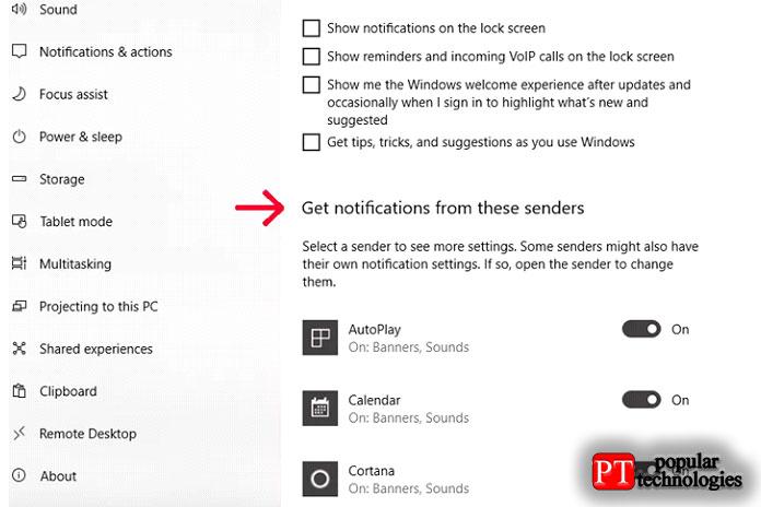 Отключите уведомления для отдельных приложений, если вы не отключили их полностью