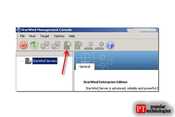 После того, как выполучите активированную консоль управления, самое время добавить сервер StarWind VSAN