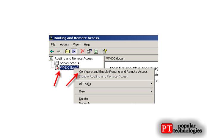 Щёлкните правой кнопкой мыши Сервер и выберите параметр