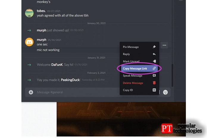 Сбор необходимых идентификаторов иссылок насообщения для сообщения осервере Discord4