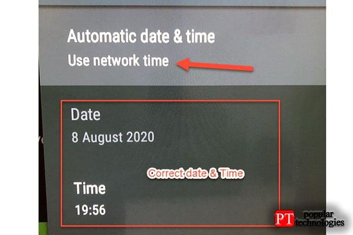 Убедитесь, что дата и время теперь изменены правильно