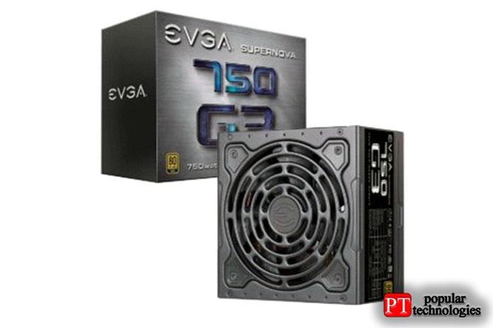 EVGA SuperNOVA 750W G2, 80+ Gold