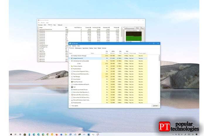 Как узнать сколько используется оперативной памяти в Windows 10
