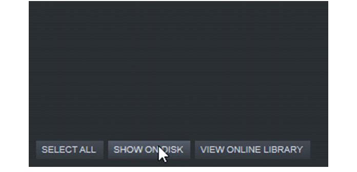 Нажмите «Показать на диске», чтобы увидеть папку, в которой находится снимок экрана
