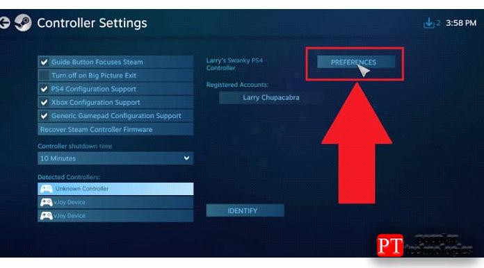 Необязательный шаг— персонализация вашего контроллера вSteam