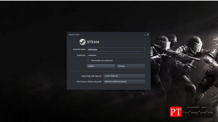 Откройте Steam ивойдите всистему, используя свои учётные данные Steam