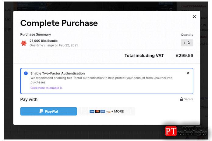 Теперь выберите желаемый способ оплаты Paypal, Amazon Pay или картой