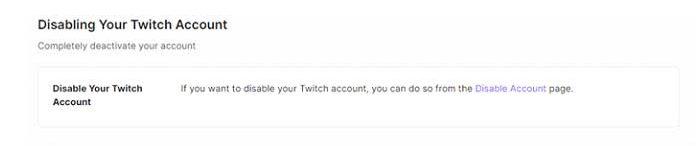 отключить свою учётную запись Twitch3
