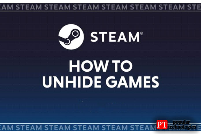 показать скрытую игру в Steam