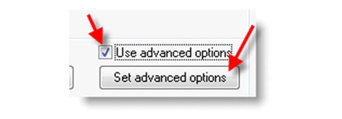 Чтобы настроить параметр изменения размера, включите«Использовать дополнительные параметры»