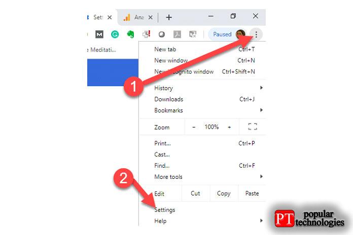 Чтобы загрузить файл, неоткрывая его сначала, перейдите внастройки браузера Chrome