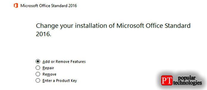 Если увас есть Office 365, увас будет возможность быстрого ремонта через Интернет
