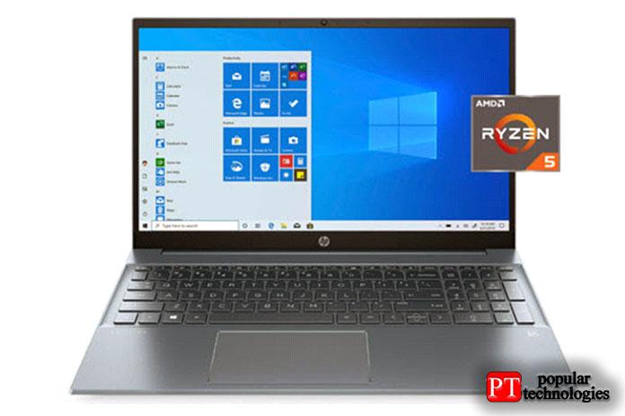 HP Pavilion 15,6 ″ FHD 1920×1080 2020 года с AMD Ryzen 5 4500U