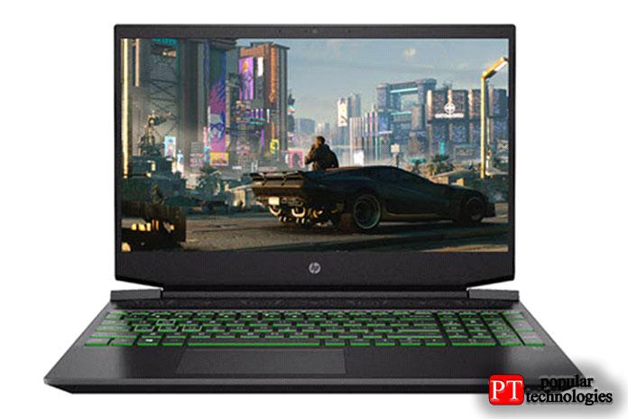 HP — игровой ноутбук Pavilion с диагональю 15,6 дюйма