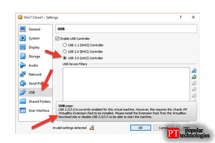 Как показано ниже, если вывыберете поддержку USB