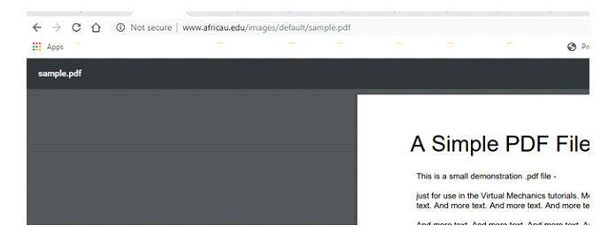 Когда мыщелкаем файл PDF, оноткрывается, как показано ниже