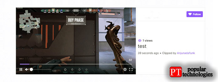 Откройте клип, который хотите загрузить