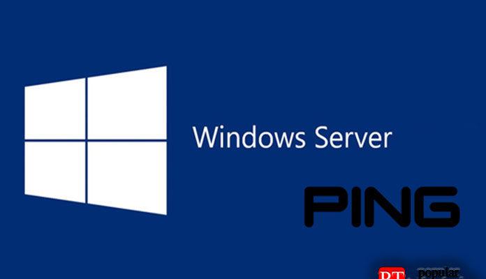 Ping вWindows Server