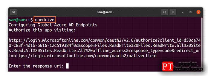 После добавления репозитория изавершения установки запустите OneDrive, используя